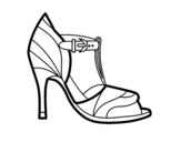 Dibujo de High heel shoe with uncovered tip