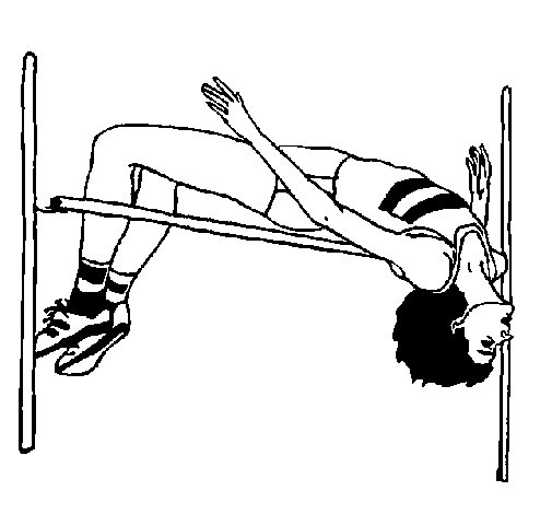 high jump coloring page
