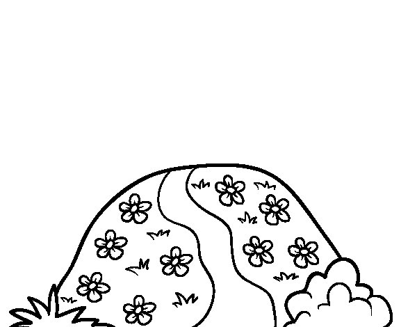 Hill coloring page