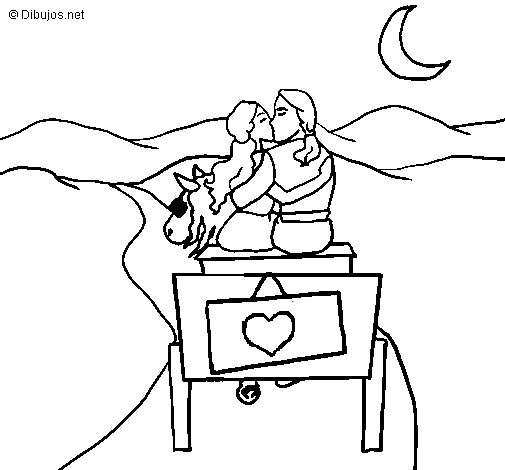 Honeymoon coloring page