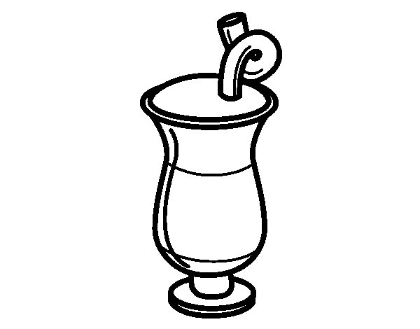 Horchata coloring page