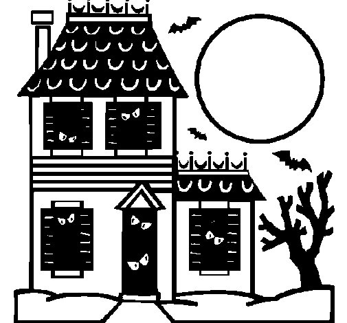 House of horrors coloring page