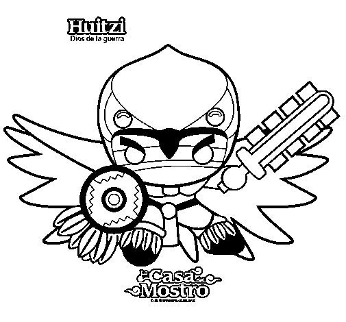 Huitzi coloring page
