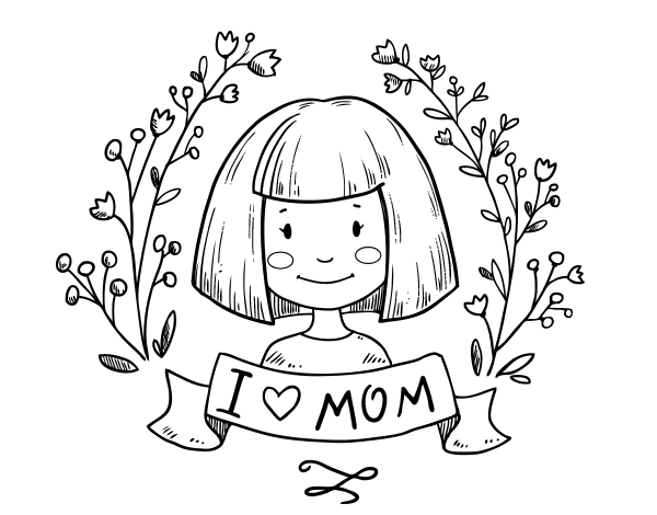 i love mom coloring pages - i love mom coloring page