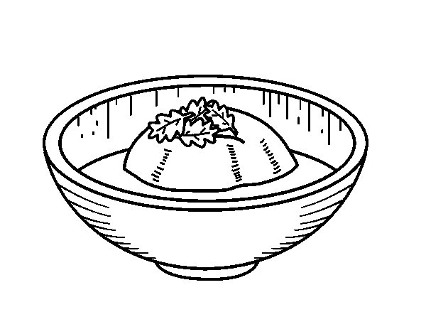 Ice cream of tea coloring page