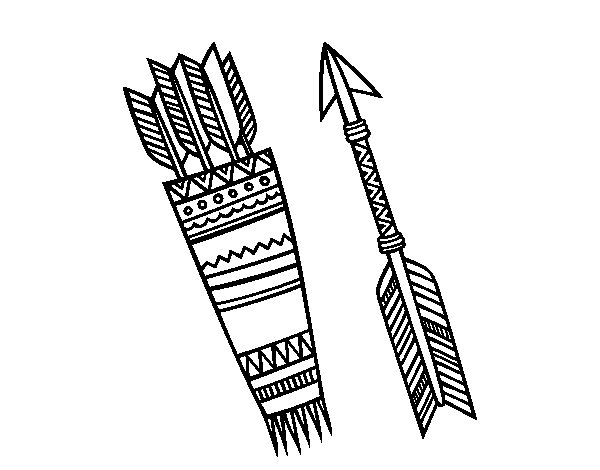 Indian arrows coloring page