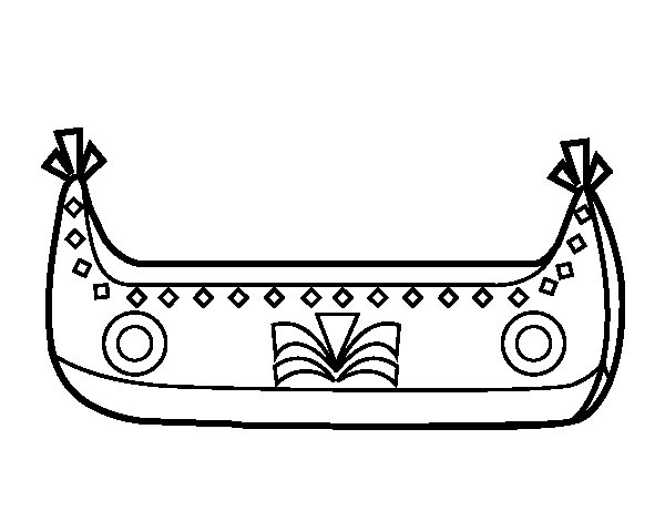 Indian Boat coloring page