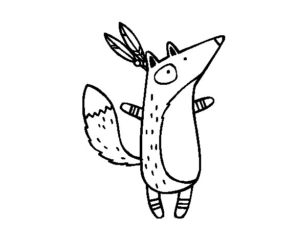 Indian Fox coloring page