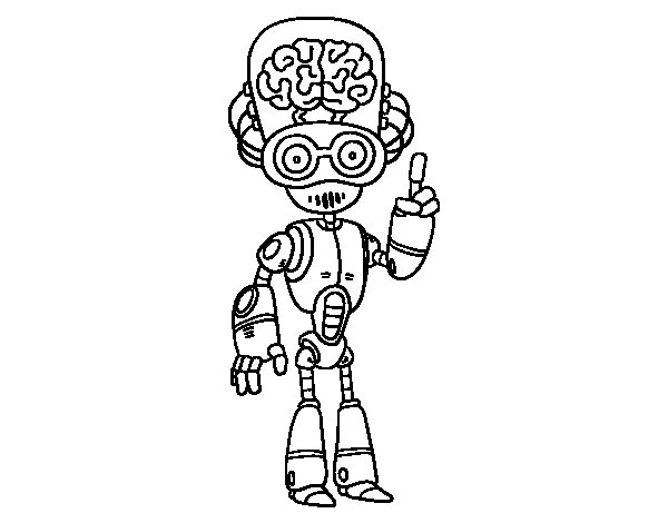 Intelligent robot coloring page