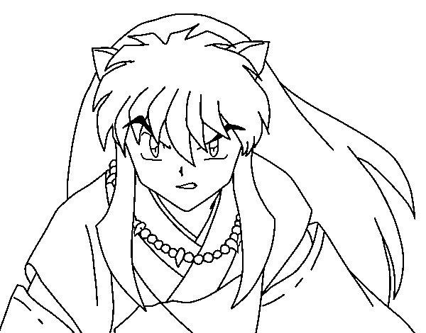 InuYasha warrior coloring page