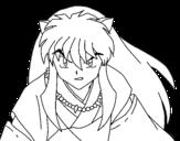 InuYasha warrior coloring page
