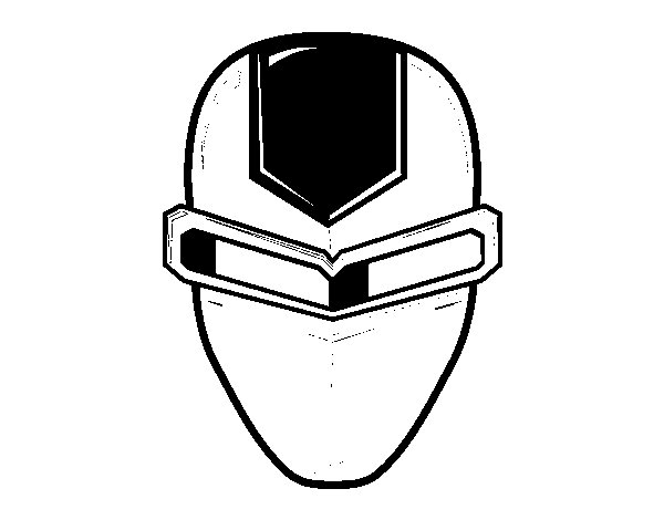 Ironman Mask Coloring Page