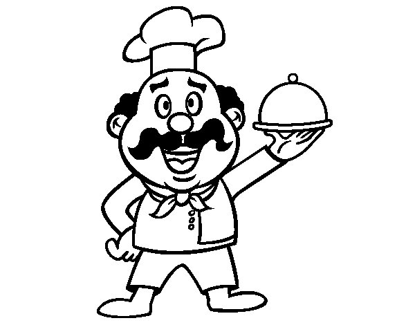 Italian cook coloring page - Coloringcrew.com
