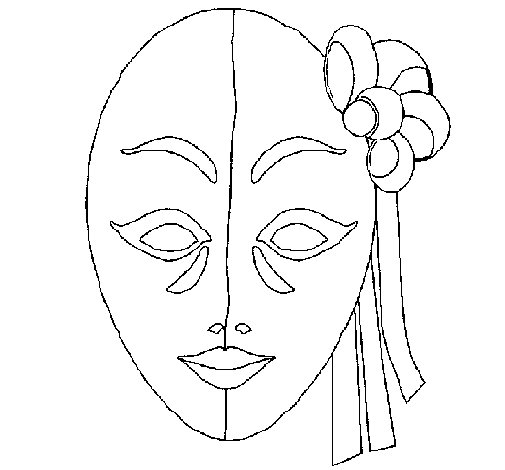 Italian mask coloring page