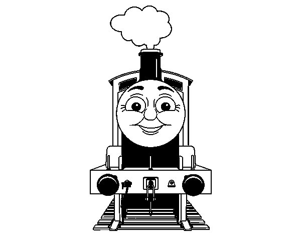 James the engine coloring page