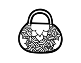 Japanese inspired mini bag coloring page