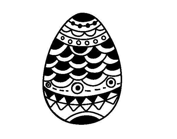japanese-style easter egg coloring page
