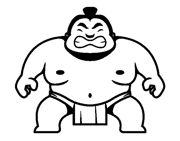 Japanese wrestler coloring page