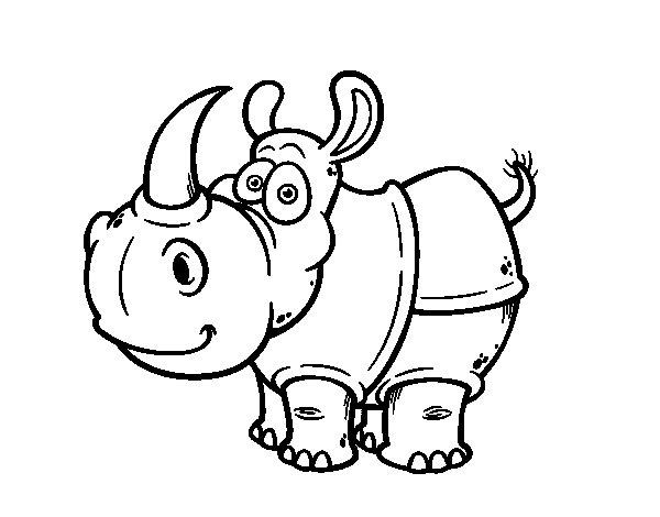 Javan rhinoceros coloring page