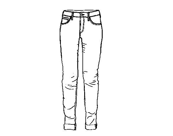 Jeans coloring page - Coloringcrew.com