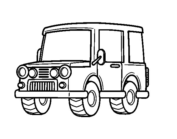 Jeep all-terrain coloring page