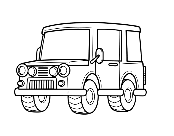 all terrain vehicle coloring pages - photo#2