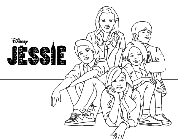 Coloring Pages Disney Jessie On Images Free Download At Channel: Disney Channel Jessie Coloring Pages To Print Sketch