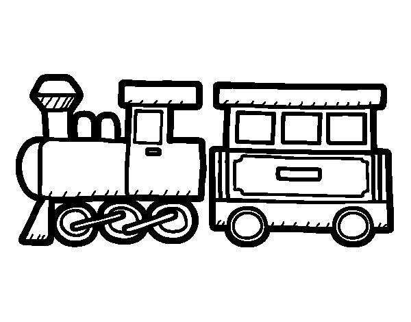 Joyful train coloring page