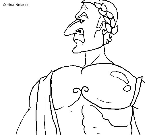 Julius Caesar coloring page
