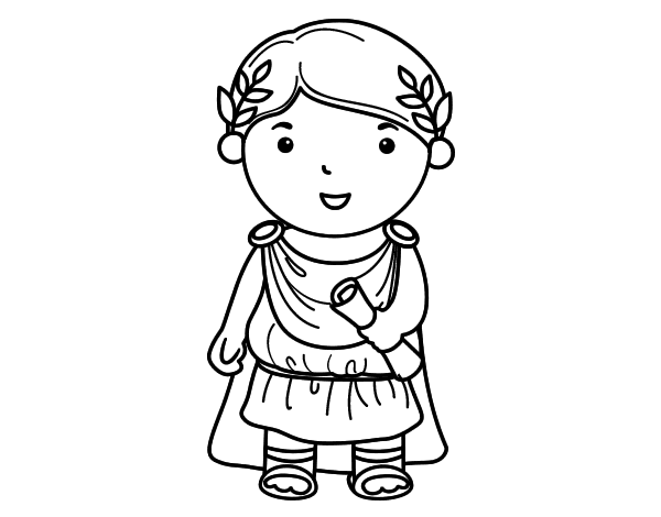 Julius Caesar Of Little Boy Coloring Page Coloringcrew Com Julius Caesar Coloring Pages