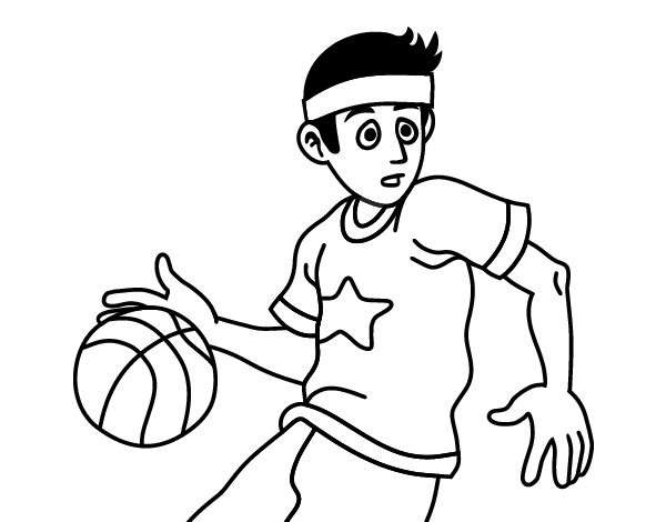 Junior Basketball Player Coloring Page