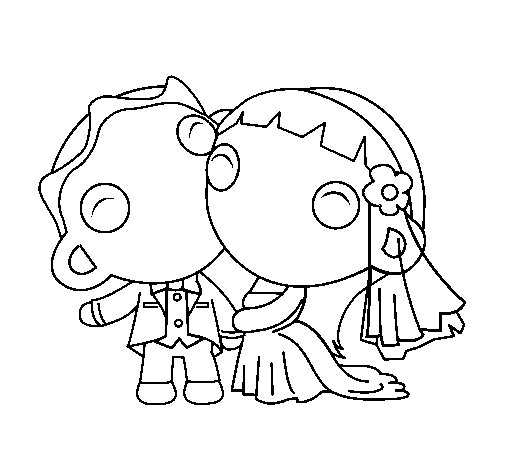 Just married II coloring page Coloringcrewcom