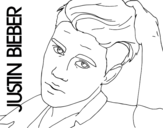 Justin Bieber close-up coloring page