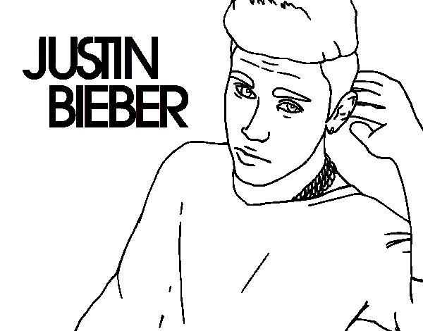 Justin Bieber Popstar coloring page
