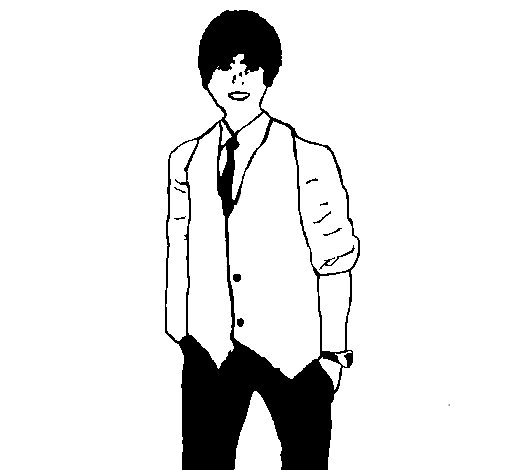 Justin coloring page