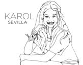 Dibujo de Karol Sevilla from Soy Luna
