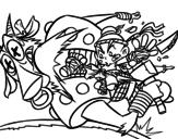 Dibujo de Kick ninja