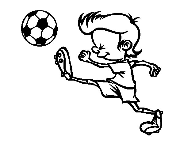 Kicking player coloring page - Coloringcrew.com: sports.coloringcrew.com/football/kicking-player.html