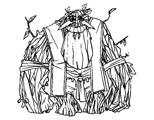 King of the woods coloring page