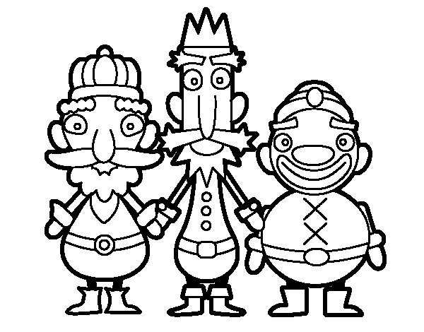 Kings from the East coloring page