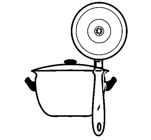 Kitchen utensils coloring page Coloringcrewcom