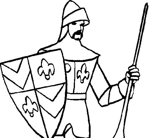 Knight of the Court coloring page