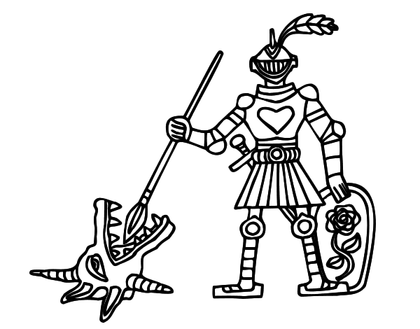 Knight Saint Gee coloring page