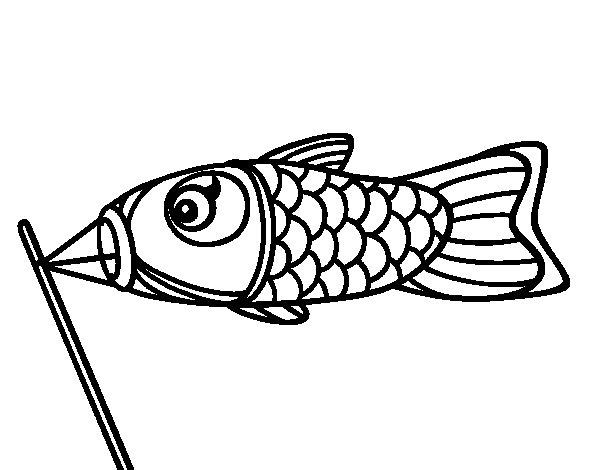 Koinobori coloring page