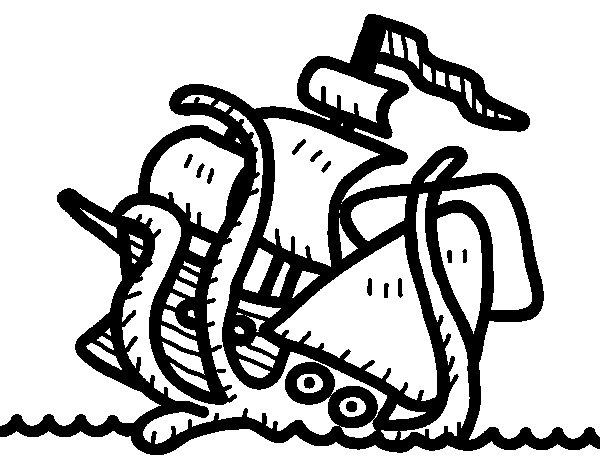 Kraken coloring page