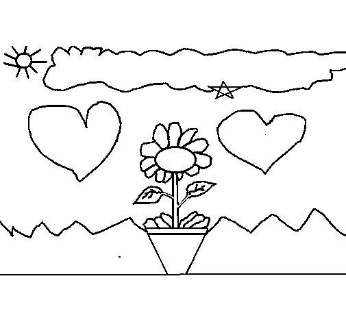 Landscape 2 coloring page