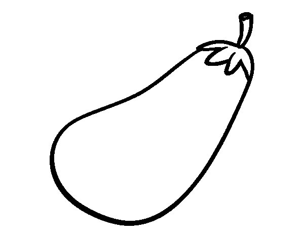 Large aubergine coloring page