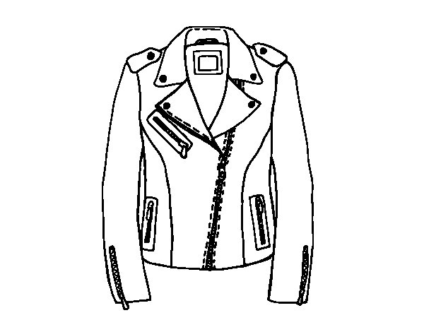 Leather jacket coloring page - Coloringcrew.com