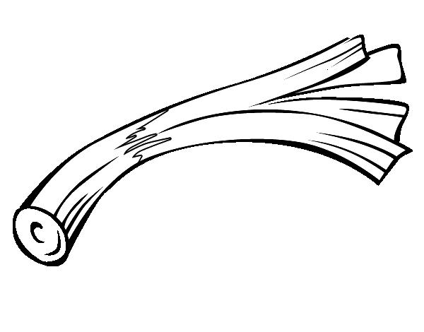 Leek Coloring Page