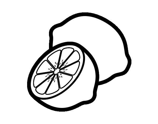 Lemons coloring page